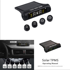 Car Tire Pressure Alarm Monitor System TPMS + 4 External Sensors Solar Wireless
