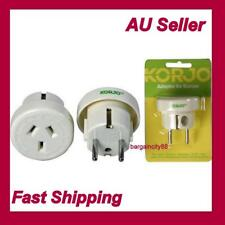 Korjo Adapter AU NZ to EU/Bali/Noumea/Tahiti/Thailand/M East/Asia/S America Plug