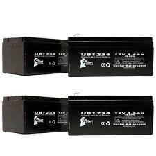 4-pack APC BACK-UPS ES BE350G Battery UB1234 12V 3.4Ah Sealed Lead Acid SLA AGM