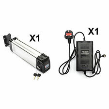 Silver Fish Lithium ion Li-ion Battery + Charger 24V 15Ah Electric Bicycle Bike