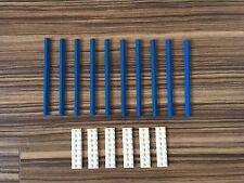 LEGO 12V Eisenbahn 10 Gerade Schienen Blau