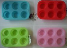 6 Cup Silicone Mini Muffin Tray Microwave, Oven & Dishwasher Safe