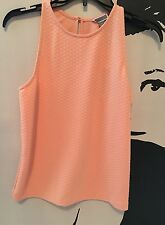 NWT Chelsea 28 Womens Peach Textured Racer Back Tank Top  Size Small MSRP $48