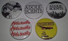 5 Adolescents badges 25mm punk rock LA punks 1980's Descendents NOFX