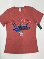 MLB Team Apparel Women's St Louis Cardinals Heather Red  Logo Sample Med 10/12