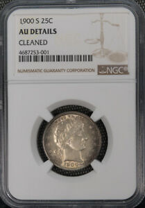 1900-S 25C Barber Quarter NGC AU Conserved by NGC *2053
