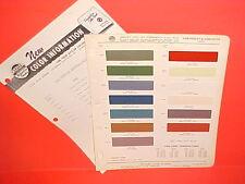 1959 CHEVROLET CORVETTE CONVERTIBLE ROADSTER PAINT CHIPS + INTERIOR COLOR LIST
