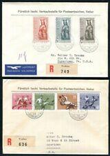 LIECHTENSTEIN 1954 322-325, 329-331 ERSTTAGSBRIEF per EINSCHREIBEN (D9186