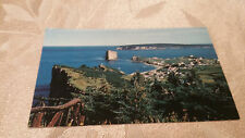 Vintage La Gaspesie Bird's Eye View Of Perce Rock Canada Postcard Unposted