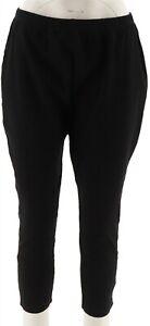 Women With Control Petite Stretch Denim Skinny Jeans Black PXS NEW A301306