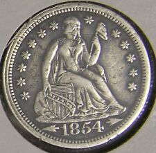 1854 SEATED LIBERTY  DIME,    AJ-009