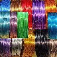 10 Rollos Alambre Aluminio 1mm Colores Variados 1 Metro por Color Wire Ciondolo