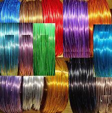 10 Rollos Alambre Aluminio 1mm Colores Variados 1 Metro por Color Wire