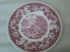 "Vintage red Barratts "" Elizabethan"" Staffordshire dessert plate"