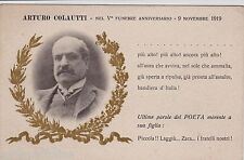 # ZARA: 1919 V° ANNIVERSARIO FUNEBRE POETA ARTURO COLAUTTI