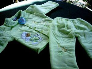 Wattierter Anzug ,Kombination 2 tlg. Gr. 92 gelb oder grün  Neu
