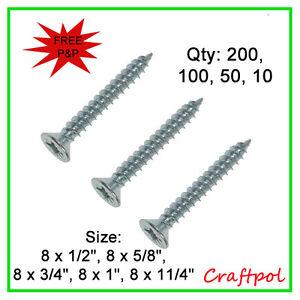 No8 Wood Screws - Pozi Countersunk Twin thread. N20