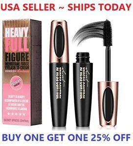 4D Silk Fiber Eyelash Mascara Extension Makeup Black Waterproof Eye Lashes USA