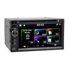 Bluetooth Capacitor Touch Screen Car DVD Double Din Stereo SatNav GPS With Maps