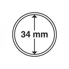 CAPSULES POUR PIECES DE MONNAIES DIAMETRE INTERIEUR 34 mm jeton touristique 3104