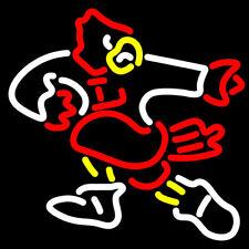 """Neon Light Sign 32""""x24"""" Louisville Cardinals Mascot Beer Bar Artwork Decor Lamp"""