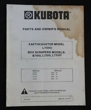KUBOTA L7550 EARTHCAVATOR TRACTOR B7510 L7515 L7520 BOX SCRAPER OPS PARTS MANUAL