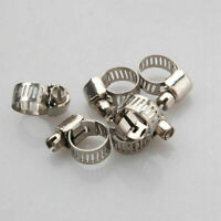 10Pc/set 25*8mm Adjustable Stainless Steel Drive Hose Clamps Fuel Line Worm E1F6
