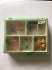 New listing Lot of 16 Vintage Flies Popper Topwater Fly Fishing Lure with Case