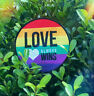 Pride Love Always Wins LGBTQ Rainbow Embroidered Iron-On Patch