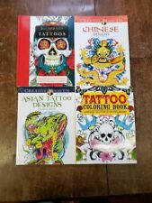 4 Tattoo Adult Coloring Books