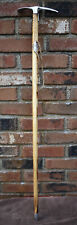 Ice Climbing Pick Axe Wood Handle Hiking Mountaineer Alpine Walking Stick 34""