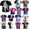 New 3D T-Shirt Michael Jackson  Music King Star Unisex Short Sleeve Tops Tee