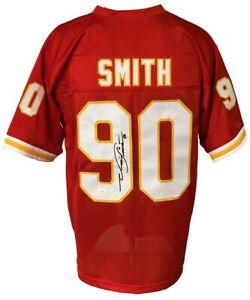 Kansas City Chiefs Neil Smith Autographed Pro Style Red Jersey JSA Authenticated