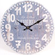 Reloj De Pared estilo Vintage Shabby Chic Azul en la playa-Nuevo