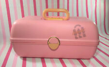 Groovy Vintage MOD 1980's PINK Caboodles Make Up Case • Easy Carry Handle #2630