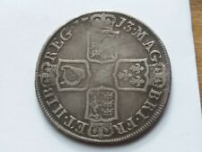 1713 Queen Anne Silver Half Crown R21BB