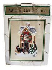 Dayton Hudson Christmas Holiday Musical House Clock 1997  Rare Collectible