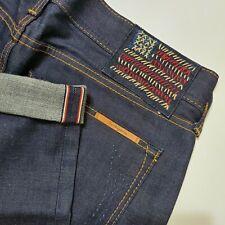 True Religion Jeans Phantom Blake Selvedge Denim Jeans USA Made Mens 34 Indigo