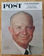 SATURDAY EVENING POST OCTOBER 11 1952 NORMAN ROCKWELL FOOTBALL DON GROUP
