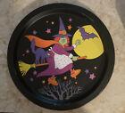 Vintage Halloween Witch Metal Tray J.S.N.Y. Hong Kong
