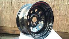 4 x 15 x 8  JEEP 5.114.3 PCD  BLACK MODULAR DEEP DISH ET-32mm Steel Wheels
