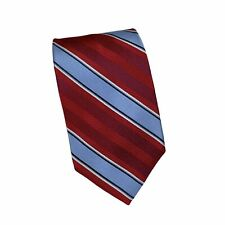 Brooks Brothers Pure Silk Striped Tie Necktie Red Blue Classic Width Men's NWT
