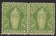 British Virg Islands stamps 1899 SG 43+43b(ERROR) PAIR MLH VF