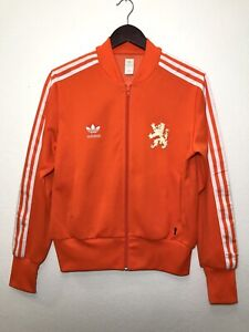 Adidas Retro Holland 1974 World Cup Stadium Jacket Orange Womens Large