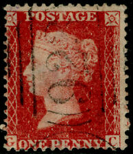 SG42, 1d rose-red PLATE 50, LC14, FINE USED. Cat £40. GC