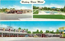 Poplar Bluff Missouri~Hickory House Motel~Restaurant~Gas Station~1950s Cars PC