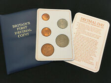 Britains First Decimal coin sets - 5 Coin Set in Decimal Day Wallet -1971