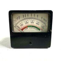 1960s TUBE COMPARISON GAUGE vintage radio tube tester AC DC MEGS poorer / better