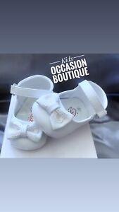 Baptism Shoes Baby Girl/ Zapato para bebe blanco/ zapato para bautizo niña