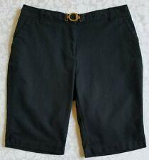 Charter Club size 10 cotton spandex pockets belt loops black women's shorts